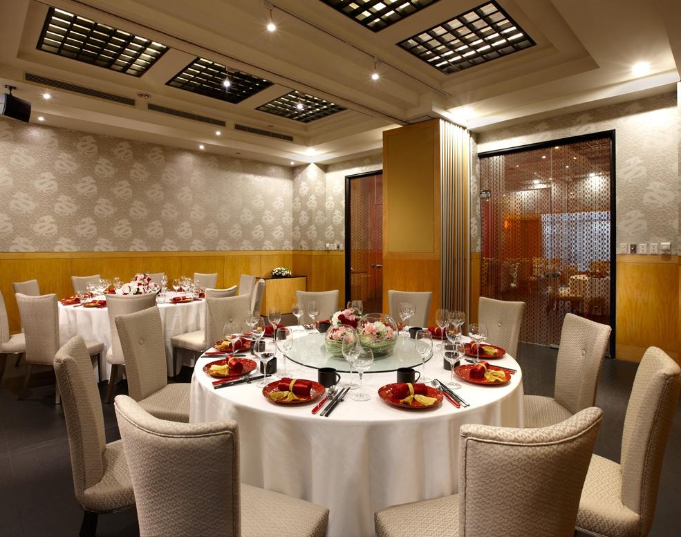 瓏山林台北中和飯店-紅餐廳包廂